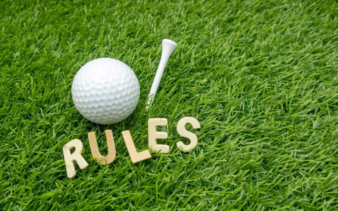 Inden du starter din golfrunde – Golfregler